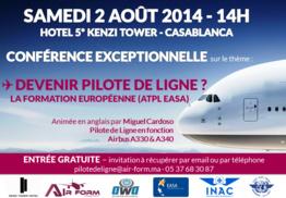 Conférence sur le thème de la formation et du métier de Pilote de Ligne