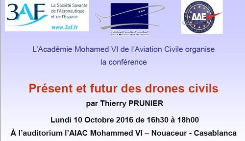 """L'AIAC lance son cycle de conférences par le """"Présent et futur des drones civiles"""""""