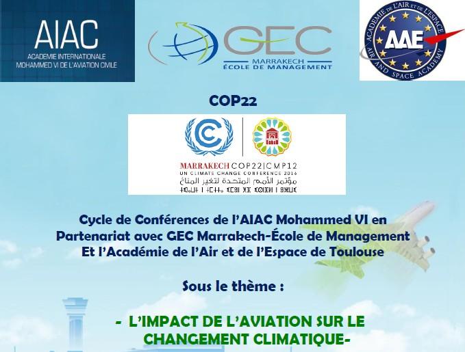 COP22: L'Académie AIAC lance une réflexion sur l'impact de l'aviation sur le changement climatique