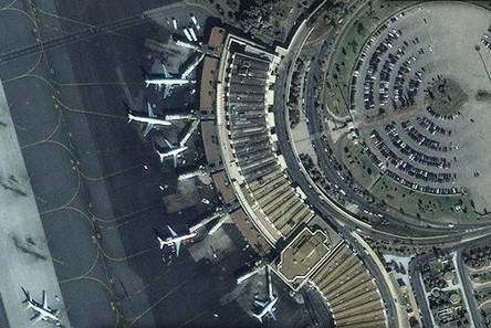 Terminal 1 de l'aéroport MohammedV - Photo Google Earth