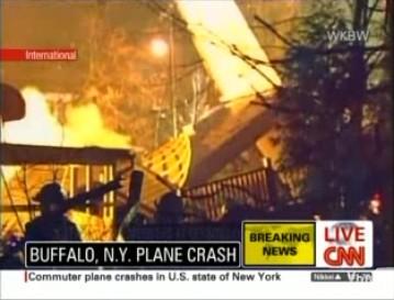 Crash d'un Bombardier Q400 sur une maison dans l'Etat de New York
