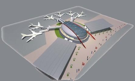 Maquette du nouveau terminal - Ph. ONDA