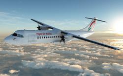 Un avion ATR aux couleurs de Royal Air Maroc Express