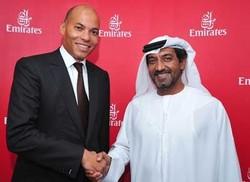 Mr Karim Wade er Mr Ahmed bin Saeed Al-Maktoum PDG d'Emirates