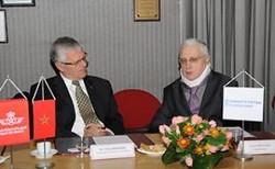 Mr Benhima (RAM) et Mr Brachet (AAE) - ph. MAP