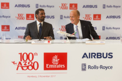 Emirates célèbre la livraison de son 100ème Airbus A380