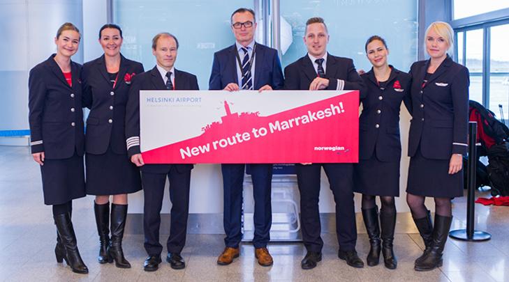 La Finlande et le Maroc reliés par un vol hebdomadaire de Norvergian entre Helsinki et Marrakech