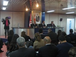 Pose de la première pierre d'Aérolia Tunisie
