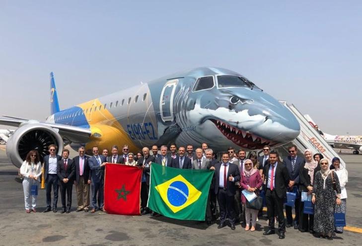 Le nouvel avion E190-E2 d'Embraer accueilli à l'aéroport international Mohammed V