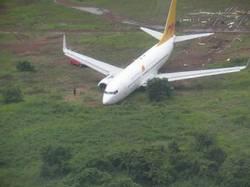 Sortie de piste d'un avion de Mauritania Airways en 2010 à l'aéroport de Conakry