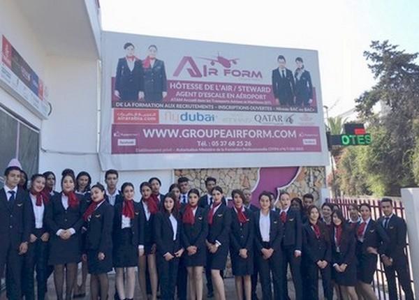 Formation hôtesse de l'air/steward: Le Groupe Air Form Maroc dévoile ses nouveaux programmes