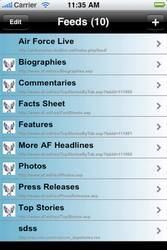 Air Force News Reader