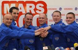 Le vaisseau statique MARS 500 arrive sur Mars