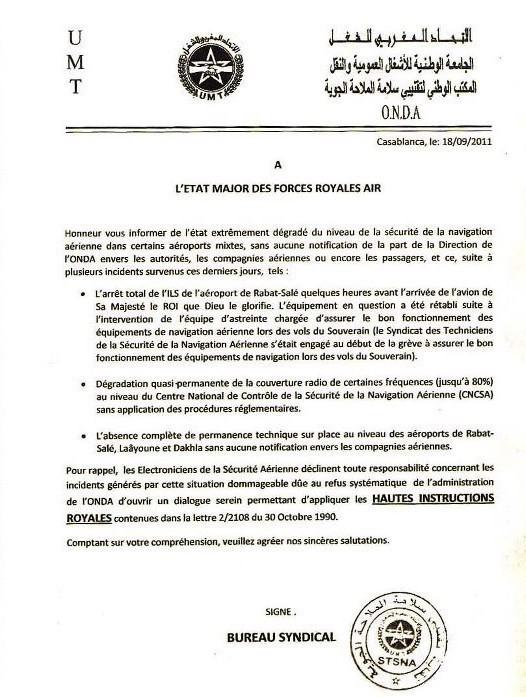 Aucune panne d'ILS à l'aéroport de Rabat-Salé en ce vendredi 16 Septembre