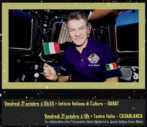 L'astronaute Paolo Naspoli invité de l'Institut Culturel Italien de Rabat