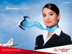 Tunisair: Sit-in d'une centaine d'hôtesses de l'air et de stewards devant le siège de la compagnie