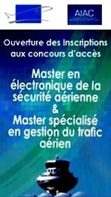 Concours d'accès aux Masters Electronique de la sécurité aérienne et Gestion du Trafic aérien