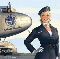 Le calendrier 2012 de Dassault Aviation par Romain Hugault