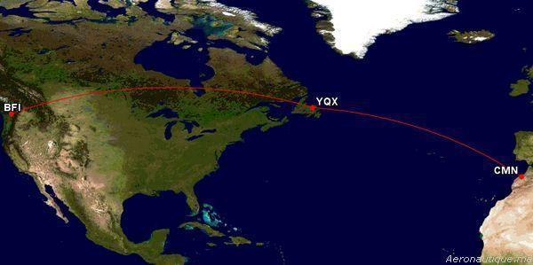 Royal Air Maroc: Arrivée depuis Seattle d'un nouvel avion B737-800