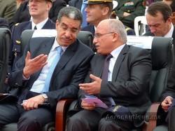 Mr Rebbah en discussion avec Mr El Harouni, Ministre du Transport tunisien