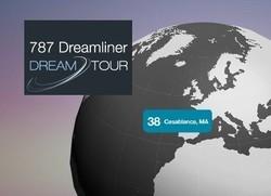 Le 787 Dreamliner à Casablanca dans le cadre de sa tournée mondiale