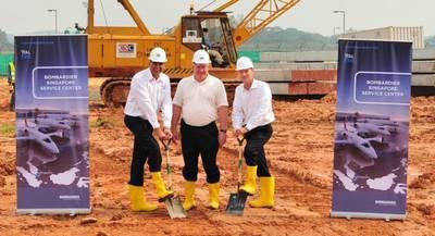 Bombardier lance la construction de son centre de service à Singapour