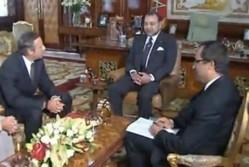 SM le Roi reçoit le président du groupe Bombardier Aéronautique Guy Hachey