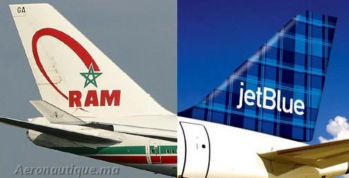 Royal Air Maroc lance un accord interligne avec la compagnie américaine JetBlue