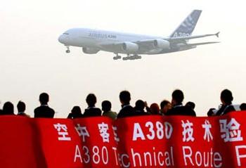 A380 atterrit à Beijing