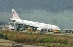 un Airbus A320 de Tunisair fait une sortie de piste à l'aéroport de Cartage