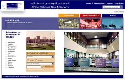 Le site de l 39 onda se dote d 39 un nouveau look - Office de l aviation civile et des aeroports tunisie ...