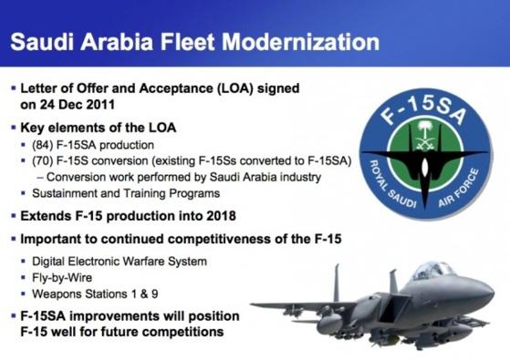 Premier vol d'un F-15SA modernisé pour le compte de la Royal Saudi AIr Force
