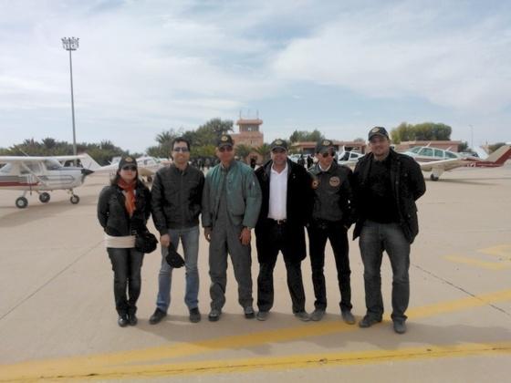 Quelques partcipants sur le tarmac de l'aéroport d'Errachidia
