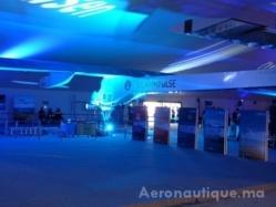Solar Impulse lors de son passage par l'aéroport Rabat-Salé