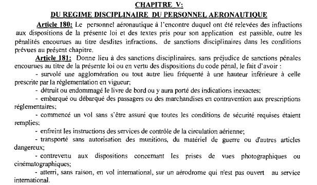 Le Maroc adopte un projet de décret sur le régime disciplinaire du personnel aéronautique