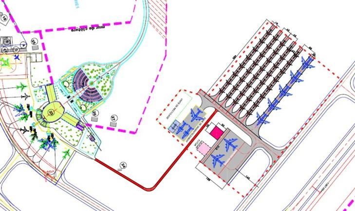 Plan d'aménagement du projet - Aéroport Oujda-Angad