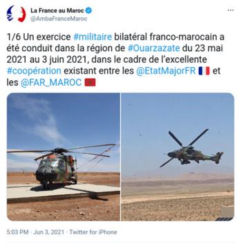 TAFILALET 2021: Fin des manœuvres d'entraînement aéroterrestre entre les armées marocaines et françaises