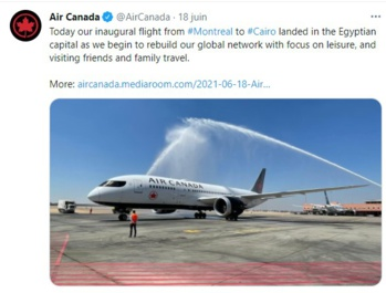 Air Canada relie Montréal et Le Caire sans escale trois fois par semaine