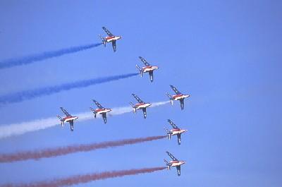 Show aérien à Rabat