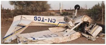 Avion après impact - Ph. BEA
