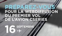 Bombardier cible le 16 septembre pour le vol inaugural de l'avion CSeries