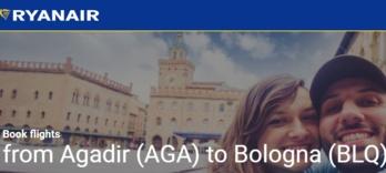 Ryanair reliera Agadir à Bologne, à partir du 2 novembre, deux fois par semaine