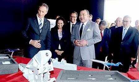 Bombardier organise une cérémonie symbolique à Midparc en présence du roi Mohammed VI