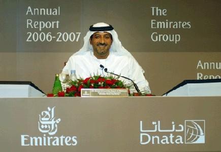 Sheikh Ahmed bin Saeed Al-Maktoum, Président directeur général de la compagnie aérienne et du Groupe Emirates