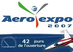 AEROEXPO 2007: le salon prend forme