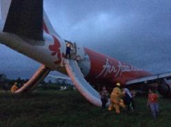 Sortie de piste à l'atterrissage d'un avion d'Air Asia aux Philipinnes