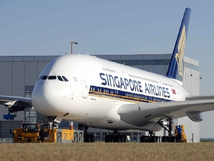 A380 aux couleurs de Singapore Airlines