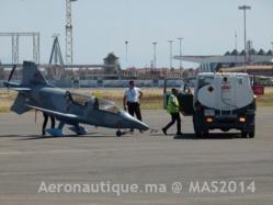 L'avion au salon Marrakech Airshow