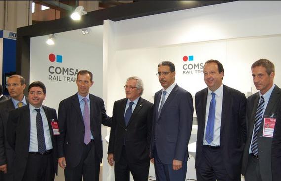 Aziz Rebbah en compagnie du PDG de COMSA EMTE à la 15ème édition de International Logistics and Material Handling Exhibition (SIL)