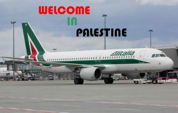 """Un pilote d'Alitalia atterrit à Tel Aviv et annonce """"Bienvenue en Palestine"""""""